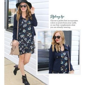 Cabi Blue Pirouette Floral Casual Dress 3460